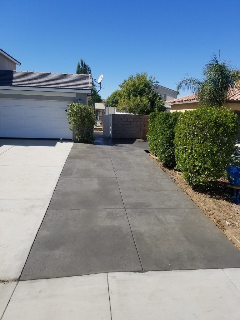 driveway extension poured in the city of Livermore for a client named Bob